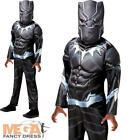 Deluxe Black Panther Boys Fancy Dress Avengers Superhero Childrens Kids Costume