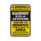 Machinist Warning Yellow Decal Hard Hat Window Gloss Sticker HVG