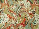 Discount Fabric Richloom Upholstery Drapery Reynard Coral Paisley Floral MM47
