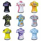 Women Cycling Jersey Summer Bike Short Sleeve Bicycle Clothing Breathble Tops