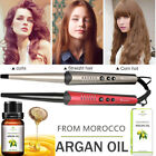 Digital LCD Hair Curling Wand Styling Tong Conical Curler Iron & Hair Argan Oil