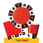 Card Night Range Tableware Balloons Decorations Supplies - CP