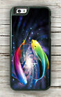ASIAN ART COLORFUL FISH CASE FOR iPHONE 8 or 8 PLUS -hfg4X
