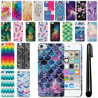 For Apple iPod Touch 6 6th/ 5 5th Gen Slim HARD Protector Back Case Cover + Pen