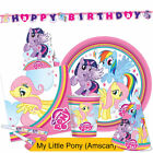 MY LITTLE PONY RAINBOW Birthday Party Range (Amscan) Tableware & Decorations{1C}