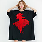 Summer Plus Size 5XL 6XL 7XL Women Oversize Fish Printing Big T-shirt Blouse Tee