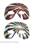 Red or Silver, Black & Gold Half Face Mask Fancy Dress Masked Ball Masquerade