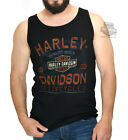 Harley-Davidson Mens Chrome Sprocket Tattered B&S Black Sleeveless Tank Top $9.99 USD