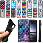 For ZTE Zmax Pro Carry Z981 Chevron Design TPU SILICONE Case Cover + Pen