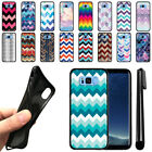 "For Samsung Galaxy S8 G950 5.8"" Chevron Design TPU SILICONE Case Cover + Pen"
