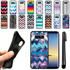 "For Samsung Galaxy Note 8 N950 6.3"" Chevron Design TPU SILICONE Case Cover + Pen"