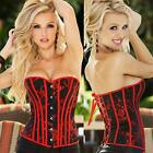 Lingerie Floral Brocade Corset Thong Sexy Top Red - S- 2XL 3X 4X 5X 6XL PLUS