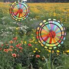 Colorful Rainbow Wind Spinner Spinner Ground Stake Outdoor Yard Garden Decor