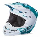 Fly Racing F2 Carbon Pure 2017 MX/Offroad Helmet Teal Blue/White