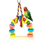 Bird Parrot Bright Color Swing Pet Play Toy Climbing Cage Hanging Decor Hot Cool