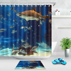 72x72'' In Aquarium Tank Shark Bathroom Shower Curtain Liners Waterproof Fabric