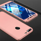 360° Full Cover Case + Tempered Glass For Huawei Y5 Y6 Y7 Pro Y9 2018 / 2017