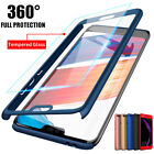 360� Full Cover Case + Tempered Glass For Huawei Y5 Y6 Y7 Pro Y9 2018 / 2017