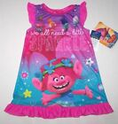 Nwt New Dreamworks Trolls Troll Nightgown Pajamas Sleepwear Poppy Toddler Girl image