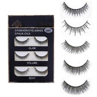 3 Pairs/Box Handmade 3D False Eyelashes Long Cross Voluminous Full Strip Lashes