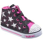 Skechers Sh Lil Rockin S Smooth Trainers Girls Hi-Tops Fashion Shoes SK10801N