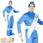 Thunderbirds Scott Mens Fancy Dress 1960s Adult Costume 60s TV Movie Outfit