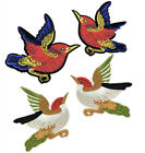 1Pair Bird Embroidered Patches Iron On Sewing For Clothes Embroidery Patchwork