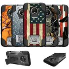 For Motorola Moto E4 Plus (XT1770) Dual Layer Cover Customized W/ Your Initials