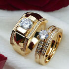 Fashion Wedding Men Women Titanium Steel Band Crystal Ring Couple Ring Jewelry