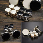 Men's Tuxedo Cufflinks Formal Costume Shirt Studs Cuff Links 6 Pcs/Set Steady