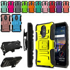 "For LG Stylo 3 Plus/ Stylo 3 LS777  5.7"" Color Hybrid Stand Holster Case Cover"