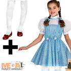 Deluxe Dorothy + Tights Girls Fancy Dress World Book Day Wizard Of Oz Costume