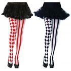 Harlequin Tights Adult Womens Halloween Costume Pantyhose
