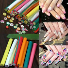 10x Mixed 3D Canes Rods Fimo Clay Fruit Flower DIY Sticks Nail Art Decoration