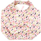 """Colosseo Japan Meow Cat 18"""" Roll & Fold Compact Shopping Tote Bag w/ Push Button"""