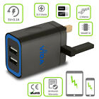 Fast Double Dual Triple Port USB Portable Wall Charger UK Adapter For Smartphone