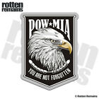 POW MIA American Eagle Badge Decal Soldier Memorial Gloss Sticker HVG