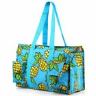 Lightweight All Purpose Zipper Travel Laundry Shopping Utility Shoulder Tote Bag