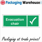 FS134 EVACUATION CHAIR SIGN MOBILITY ST JOHN EMERGENCY SAFETY AID WORKPLACE