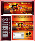 the incredibles birthday party favors candy bar