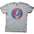 Grateful Dead Steal Your Face Band Logo Licensed Adult Unisex T-Shirts - Grey