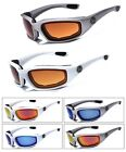 Choppers Padded Foam Wind Resistant Anti-Reflective Motorcycle Riding Sunglasses