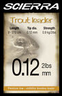 Scierra Trout Leaders - Sea Brown Trout Grayling Chub Game Fly Fishing Tackle