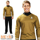 Captain Kirk Shirt Mens Fancy Dress Star Trek Gold Sci Fi Uniform Adults Costume on eBay