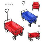 Collapsible Folding Festival Wagon Cart Outdoor Utility Garden Beach Wheelbarrow