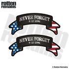 Never Forget Ribbon Decal SET NYC 9/11 343 WTC American Flag Sticker EMV