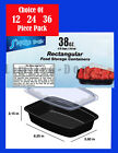 38 OZ FOOD CONTAINERS AND LIDS MICROWAVE, FREEZER, DISHWASHER SAFE...