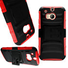 Shock Proof Hybrid Kickstand Holster Case for HTC One (M8) / M8 for Windows
