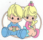 "5""-8"" Precious moments girl boy bunny safe sticker border cut out character"
