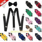 Внешний вид - 2018 NEWEST Suspender and Bow Tie Set for Adults Men Women Teens (USA Seller)